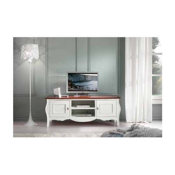 Biely drevený TV stolík Castagnetti Annata
