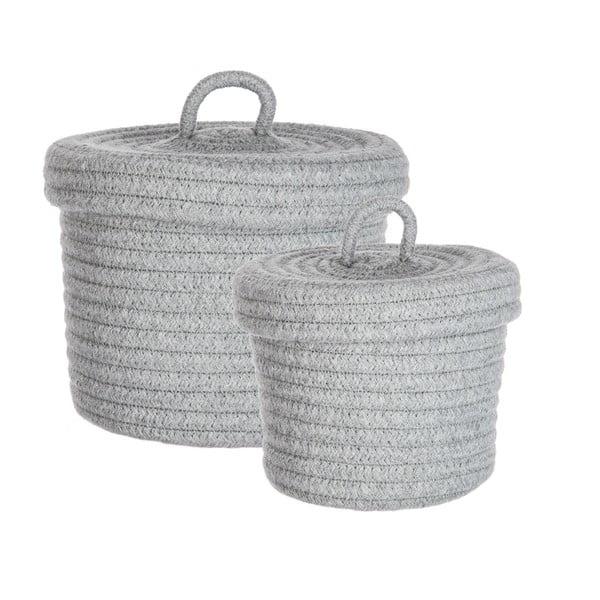 Sada 2 košíkov Grey Baskets