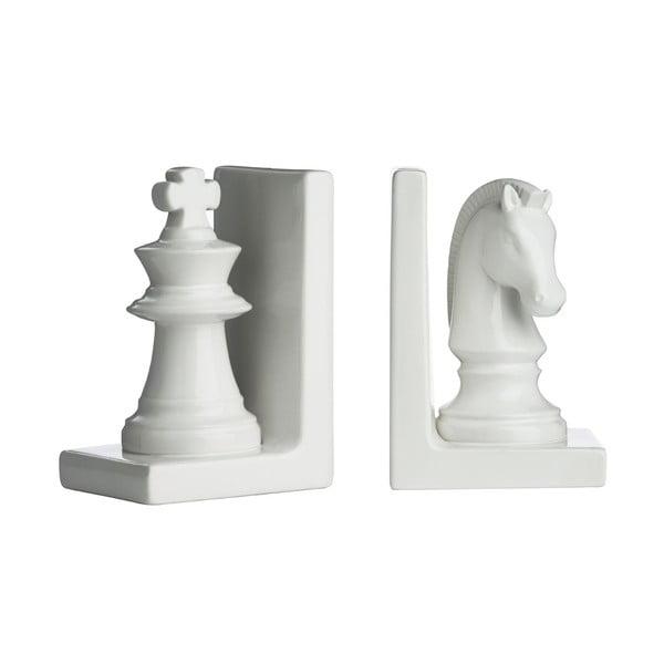 Sada 2 zarážok na knihy White Chess