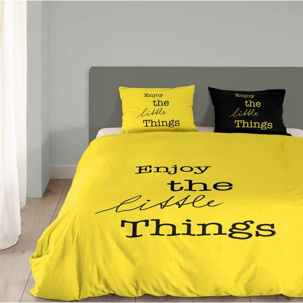 Žlté obliečky Muller Textiel Enjoy, 140x200cm