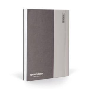 Zápisník FANTASTICPAPER A5 Stone/Warm Grey, čistý