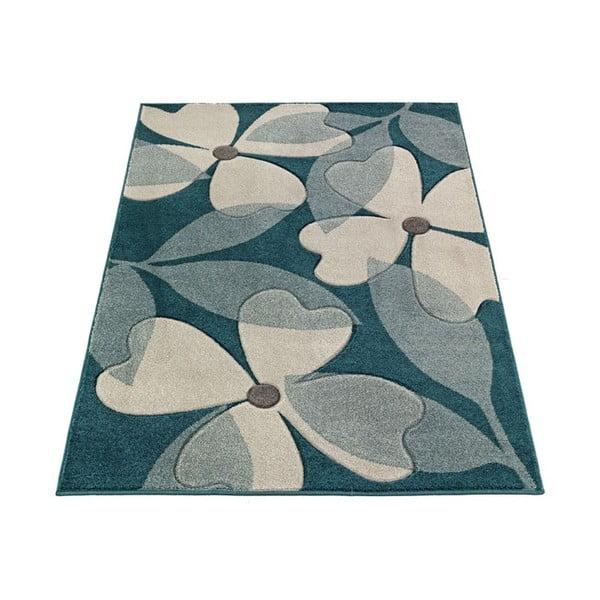 Koberec Intarsio Floral Blue, 160x230 cm