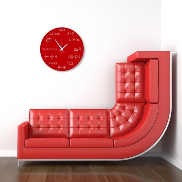 Nástenné hodiny Red Maths