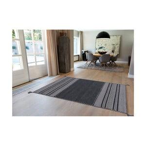 Tmavosivý ručne vyrábaný bavlnený koberec Arte Espina Navarro 2919, 170 × 230 cm
