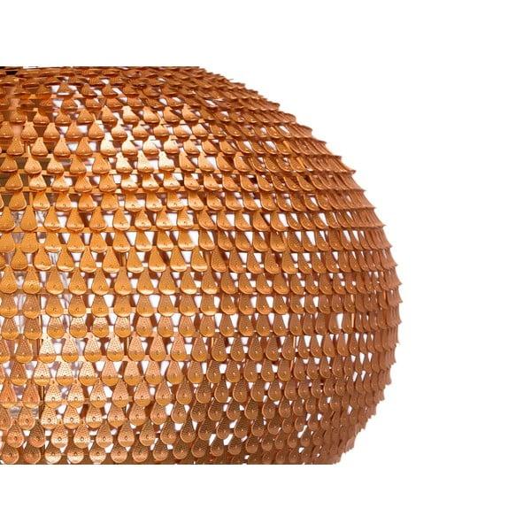 Závesný luster Fisura Waves Copper, 40cm