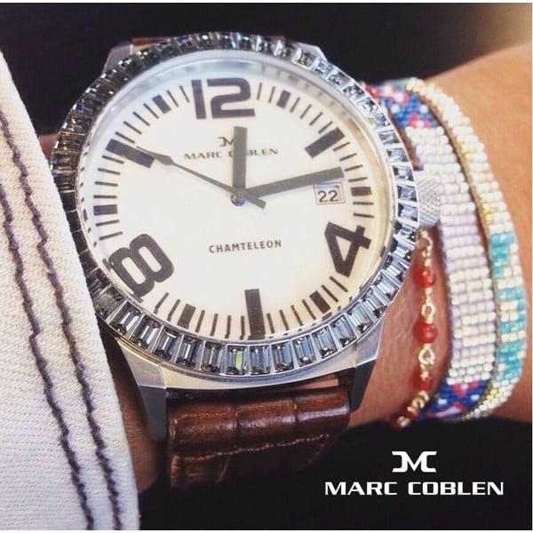 Dámske hodinky Marc Coblen s remienkom a krúžkom na ciferník naviac P68