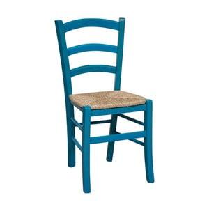 Modrá stolička z bukového dreva Alis