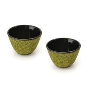 Set 2 kalíškov na čaj Green