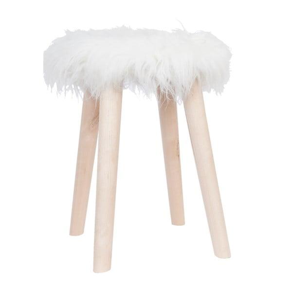 Biela stolička Clayre & Eef Fur