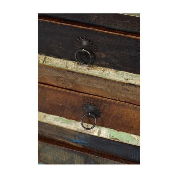 Drevená skrinka s troma zásuvkami Goa