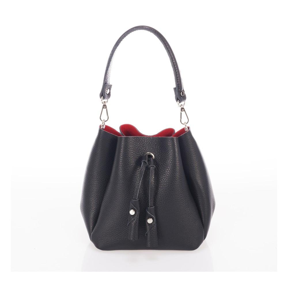 Čierna kožená kabelka Giorgio Costa Acca 945413cb2ad