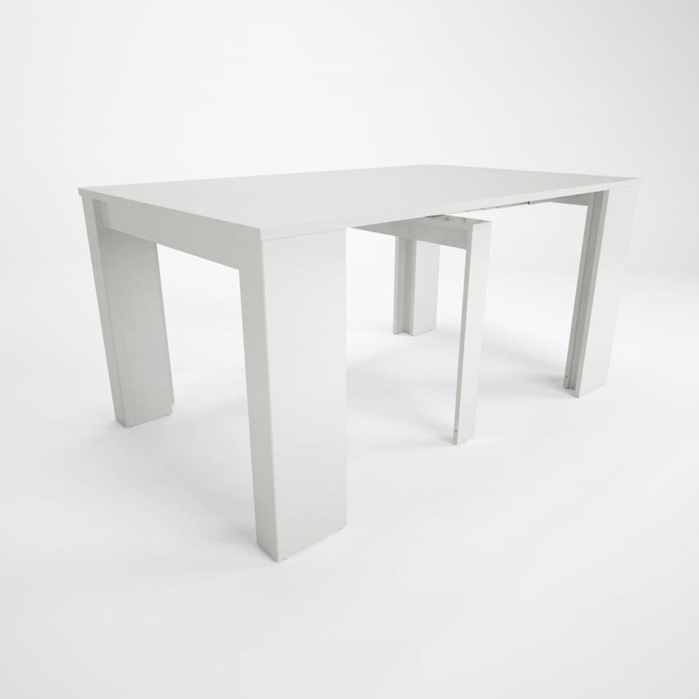 Biely drevený rozkladací jedálenský stôl Artemob Willy