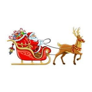 Vianočná samolepka Ambiance Santa Claus Sleigh