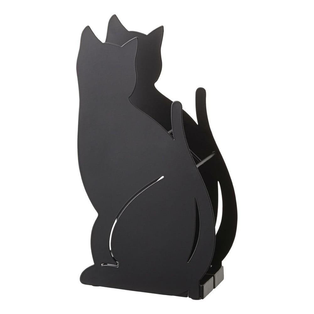 Čierny stojan na dáždniky YAMAZAKI Cat