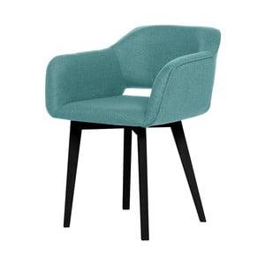 Svetlomodrá jedálenská stolička s čiernymi nohami My Pop Design Oldenburg