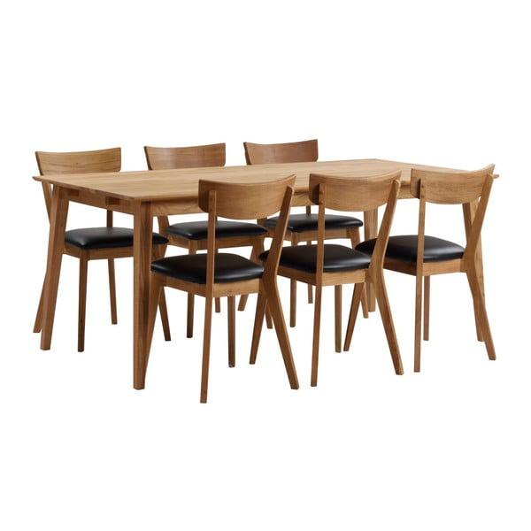 Prírodný dubový jedálenský stôl Rowico Mimi, dĺžka 180 cm