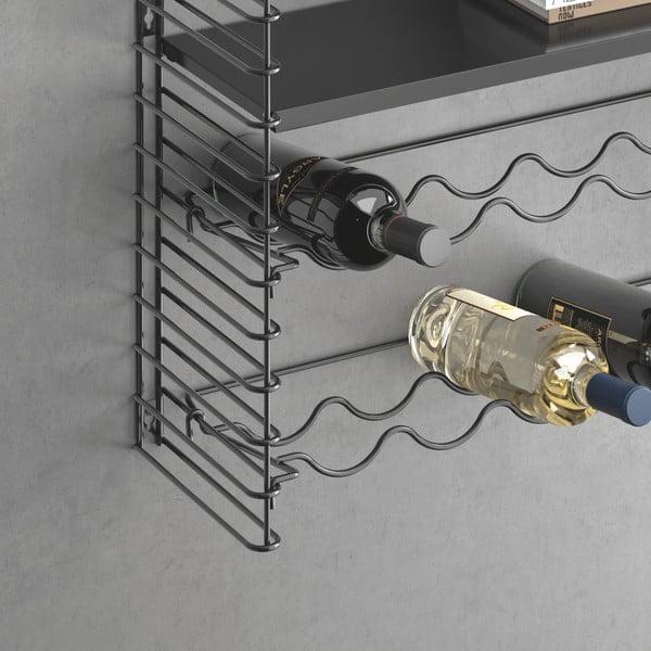 Nástenný regál so stojanom na fľaše Metaltex