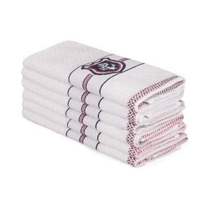 Sada 6 béžových bavlnených uterákov Beyaz Lucmenno, 30×50 cm