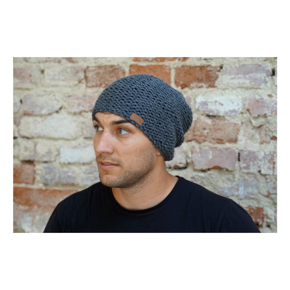 6b6dcd8d2 Tmavosivá ručne pletená čiapka DOKE Dark | Bonami