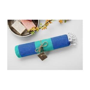 Hamam osuška Myra Blue Green, 100x180 cm