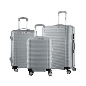Sada 3 sivých cestovných kufrov na kolieskach Murano Vivienne