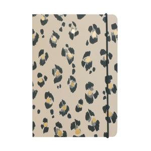 Zápisník A5 Portico Designs Leopard, 160 stránok