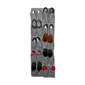 Sivý závesný organizér na topánky Jocca Twenty, 135 48 cm