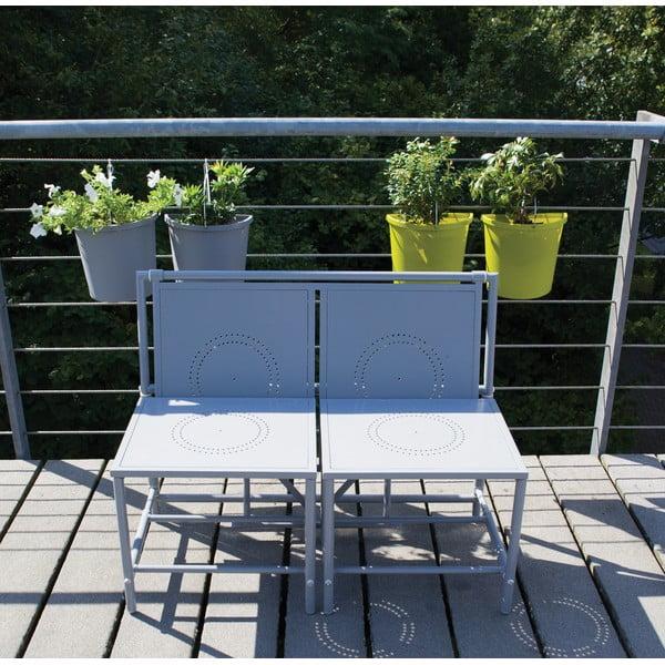 Sivá skladací zostava na balkón Esschert Design Magic
