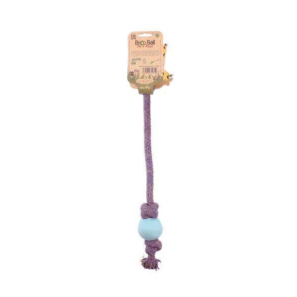 Povraz s loptičkou na hranie Beco Rope 40 cm, modrý