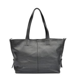 Čierna kožená kabelka Roberta M Lola