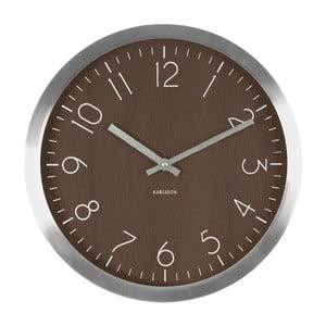 Hnedé hodiny Present Time Wood Charm XL