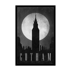Plagát Dark Gotham, 35x30 cm