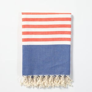 Hammam osuška z ručne tkanej bavlny ZFK Aslaug, 170 x 100 cm