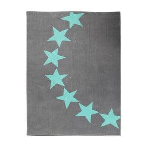 Koberec Hanse Home City & Mix Sivo-modré hviezdy, 140x200cm