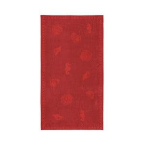 Červená bavlnená osuška Seahorse Shells, 200×100cm