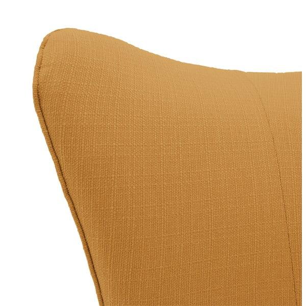 Oranžovobéžové kreslo Vivonita Sandy, svetlé nohy