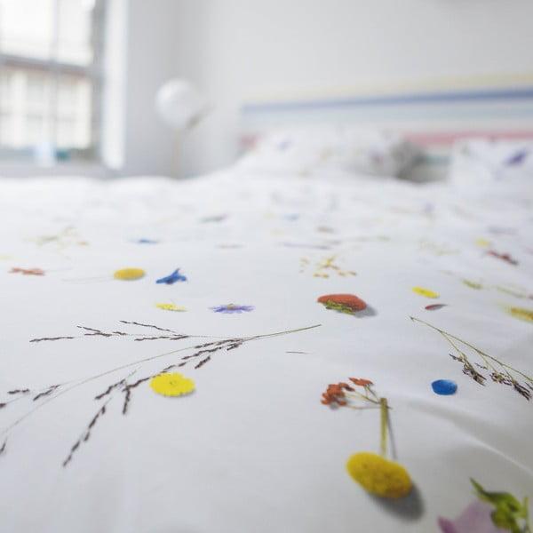 Bavlnené obliečky na jednolôžko Snurk Flower Fields, 140×200 cm