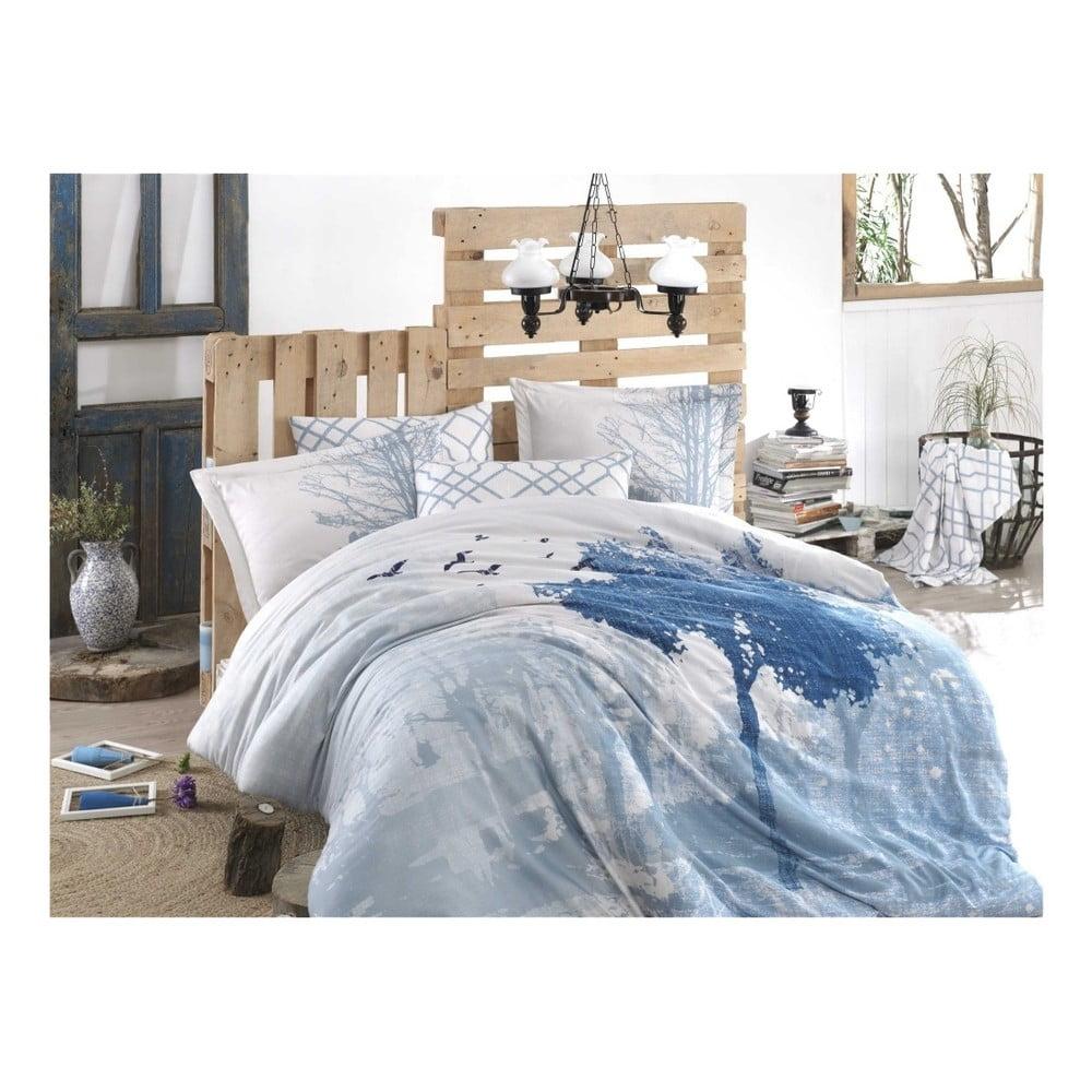 Bavlnené obliečky s plachtou a 2 obliečky na vankúše Pradonia, 200 × 220 cm