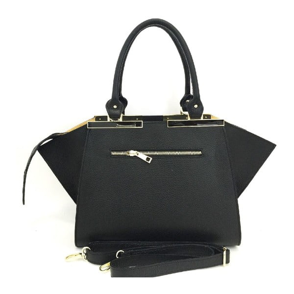 Kožená kabelka Desi Black