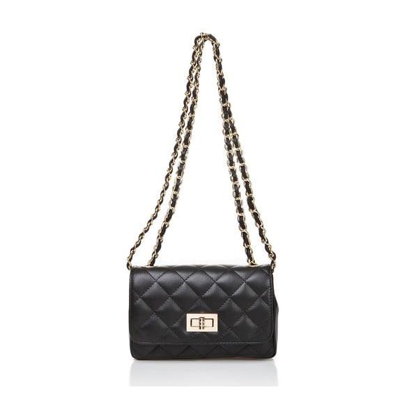 Čierna kožená kabelka Markes Eulalia