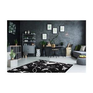 Čierno-biely koberec Obsession My Black & White Baw Blac, 80×150 cm