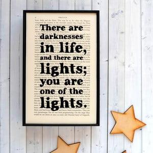 Plagát v drevenom ráme Dracula Darkness Light