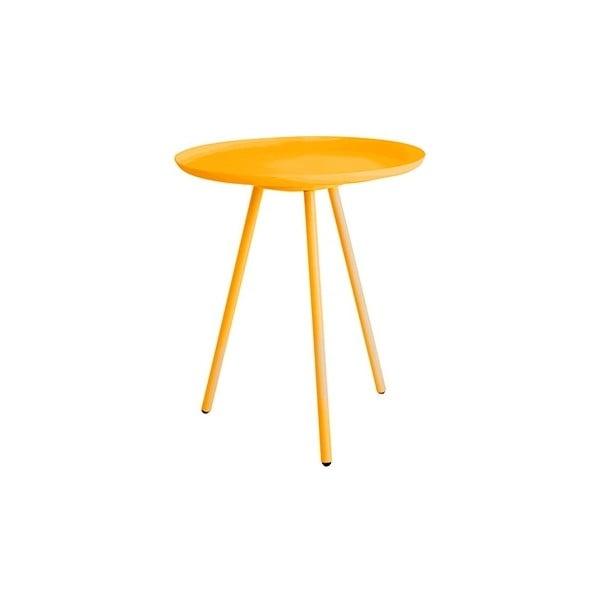 Žltý odkladací stolík Frost
