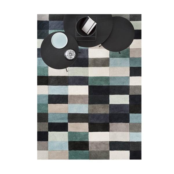 Vlnený koberec Linie Design Romina Aqua, 140x200 cm