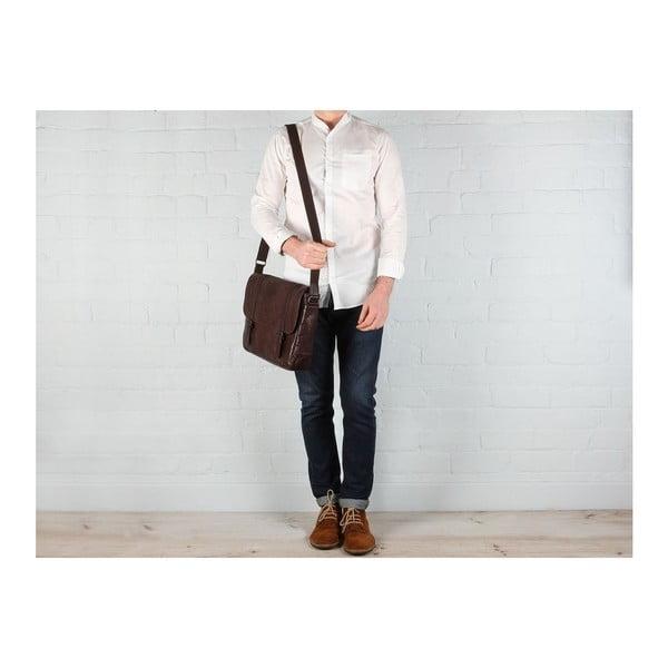 Kožená taška Livingstone Vintage Brown