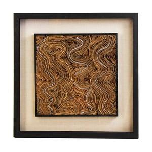 Obraz s rámom z borovicového dreva VICAL HOME Della
