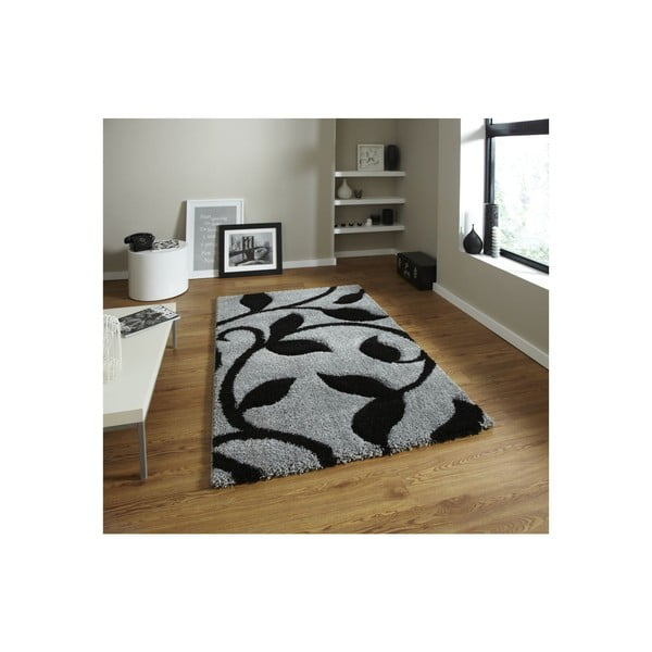 Koberec Think Rugs Fashion Grey Black, 120 x 170 cm