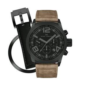 Unisex hodinky Marc Coblen s remienkom a krúžkom na ciferník naviac P62