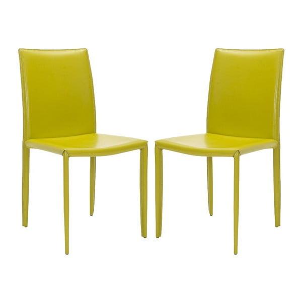 Set 2 stoličiek Caleb Lime