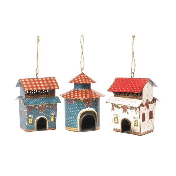 Sada 3 závesných dekorácií Bird Houses